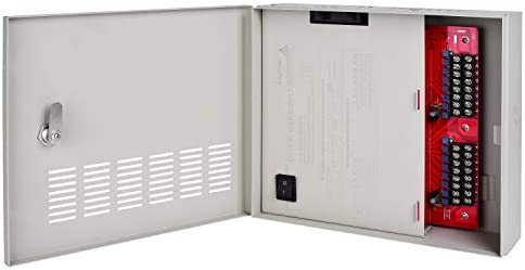 EVERSECU 4K CCTV Power Supply 16 Channel Adjustable DC11V DC15V 32 Amp Output Reset Fuse with product image