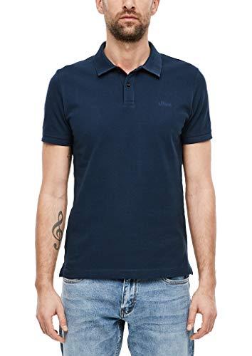 s.Oliver Herren Poloshirt aus Baumwollpiqué dark blue M