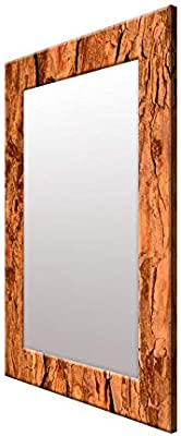 999Store Printed Brown Abstract Pattern Mirror