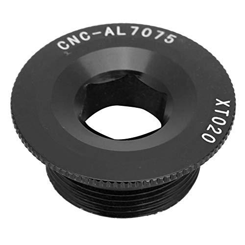 Dilwe Kurbelsatzschrauben, Aluminiumlegierung Langlebiger Kurbelarm M20 * 10 Schrauben Bolzen mit Gewinde BB-Achsenschrauben für 590 596 XT XTR SLX Integriertes Kettenrad(Schwarz)