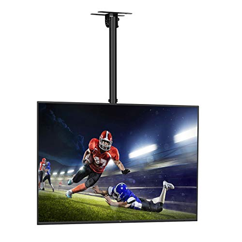 "SIMBR Ceiling TV Mount for 22-75"" TV Adjustable 6 Heights Tilting Swiveling for LED, LCD, Plasma Flat Screen with VESA 600x400mm and 50kg/110lbs"