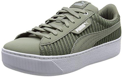 PUMA Damen Vikky Platform EP Q2 Sneaker, Grau (Rock Ridge-Rock Ridge), 38.5 EU