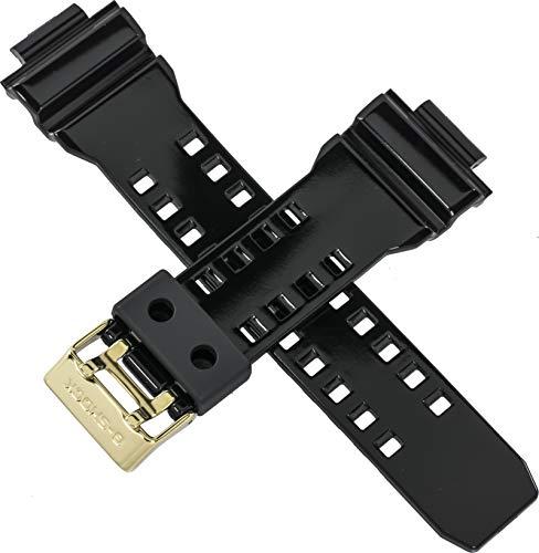 Correa de reloj Casio genuina para GD-350BR GD 350BR 350 hebilla de oro negro