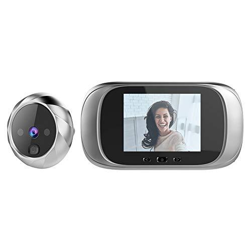 Mirilla Timbre del Espectador,Puerta Visor de la Cámara Smart Monitor Pulgadas LCD Digital con Detección de Movimiento de Video de la Puerta del Timbre del Intercomunicador de Visión Nocturna