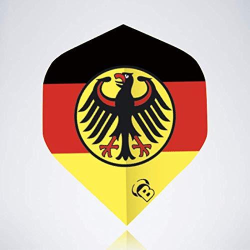 myDartpfeil Gelbe Standard Dart Flights | Deutschland Flagge aus Kunststoff | 3er Flight Set | Dartpfeil Flyer