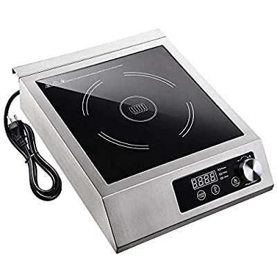 WeChef 3500W Commercial Induction Cooktop Kitchen Electric Stove Burner Rapid Heating Cookware Stainless Steel