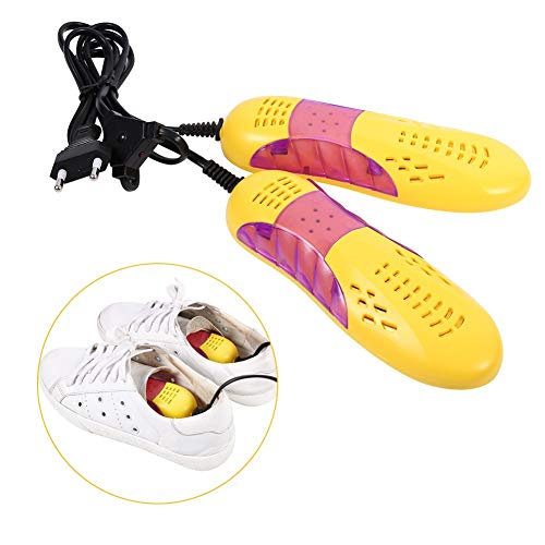 Zetiling Secador de Zapatos, 220V Race Car Shape Voilet Light Protector de Zapatos, Desodorante con Olor Deshumidifica el Dispositivo Calentador de Zapatos