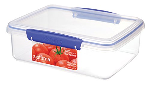 Sistema 1700 Klip It Collection Rectangle Food Storage Container, 2 Liter/67.6 Ounce