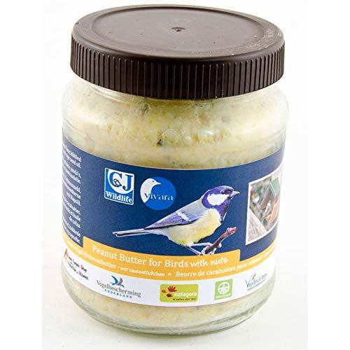 CJ Wildlife Erdnussbutter für Vögel, mit Nussstückchen, Sparpack 4 x 330 g