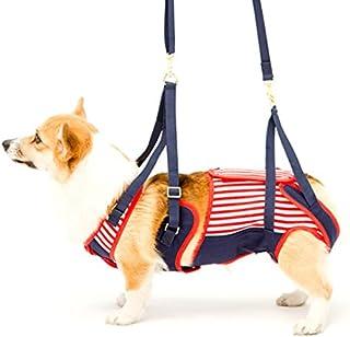 歩行補助ハーネスLaLaWalk中型犬・コーギー用 セーラーマリン[赤×紺] (CM)