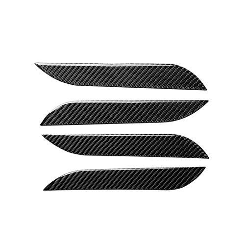 GOODNESS XYXYMY 4 PCS Real Carbon Fibra Coche Exterior Puerta Cubierta Cubierta Protector de Cero Pegatina Accesorio Accesorio para Tesla Modelo S 2014-2019