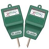 Dr.meter S10 Soil Moisture Sensor Meter Hygrometer-Garden,Farm,Lawn,Plants,Indoor&Outdoor(No Battery Needed), 2 Pack, Green