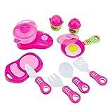 Gazechimp Küchenspielzeug Kinder Küchen Pretend Set für Kinder Rollenspiel (13pcs)
