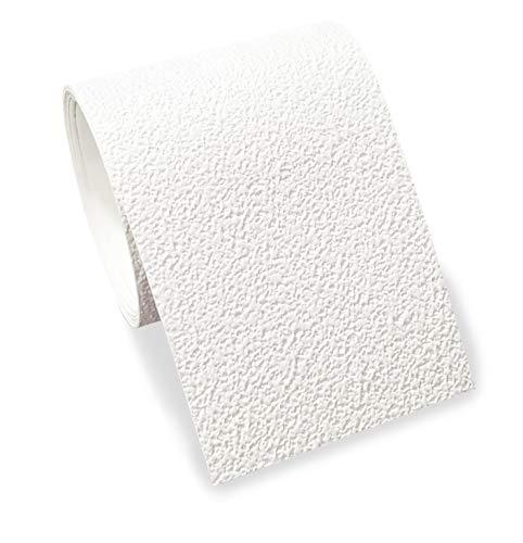 Bordüre selbstklebend, 4cm breit & 5m lang, 1 Rolle für die Wand in Wohnzimmer & Schlafzimmer (weiß mit Struktur)