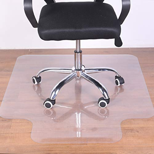 Office Chair Mat for Hardwood Floor - 36x48 Clear PVC Desk Chair Mat - Heavy Duty Floor Protector for Home or Office - Easy Clean and Flat Without Curling