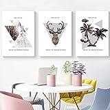 Diy diamante pintura de gama alta elegante decoración palmera ciervo cabeza bosque paisaje moda arte abstracto arte de la pared pintura al óleo impresiones estilo nórdico cuadros decorativos