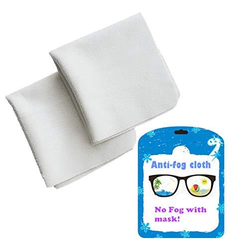 Anti Fog Wipes for Glasses, Anti-Fog Wipes Prevent Fogging of Eyeglasses Glasses Mirrors Camera Ski Masks Reusable 450 Times (2 Pack)