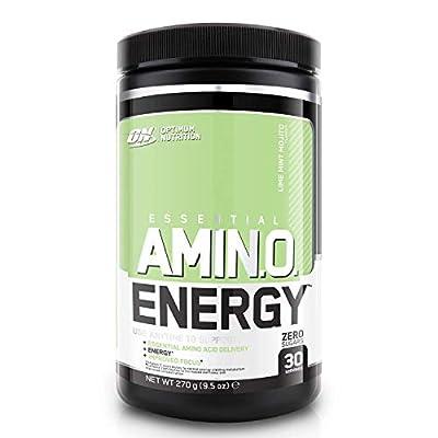 Optimum Nutrition Amino Energy Pre Workout Powder Keto Friendly with Beta Alanine, Caffeine, Amino Acids and Vitamin C, Lime Mint Mojito, 30 Servings, 270 g