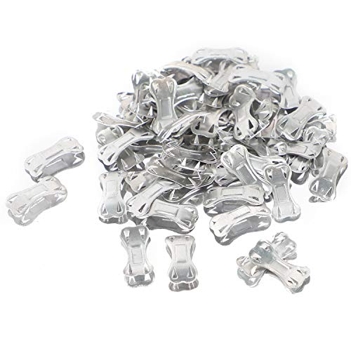 Bandage Clips, Durable Metal Clasps for Various Types Bandages, Replaceable Wrap Fastener Clips, Latex-Free, (60 Pack)