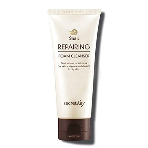Secret Key - Snail Repairing Foam Cleanser - Gesichtsschaum mit Schneckenschleim und EGF gegen unreine Haut für Frauen und Männer - Reinigungsschaum und Gele für das Gesicht - Reinigungsmilch und Cremes für das Gesicht - Hautpflege - Tagespflege