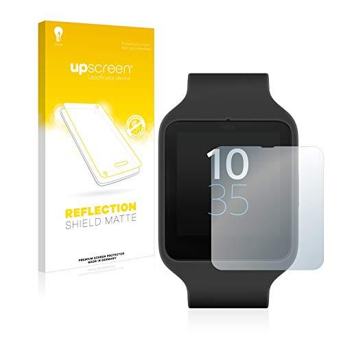 upscreen Entspiegelungs-Schutzfolie kompatibel mit Sony Smartwatch 3 SWR50 – Anti-Reflex Bildschirmschutz-Folie Matt