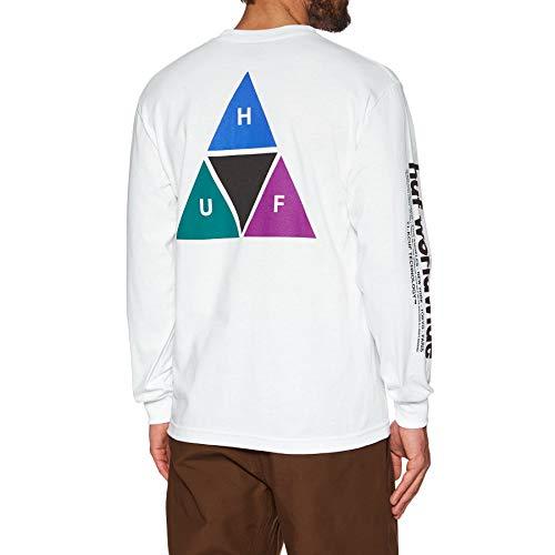 HUF Prism Triple Triangle (White) Long Sleeve T-Shirt-XLarge