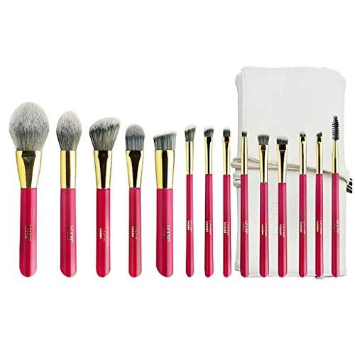 YYF Lot de 14 pinceaux de maquillage lisses, poils souples, poudres douces, fard à paupières, pinceau de maquillage professionnel doux