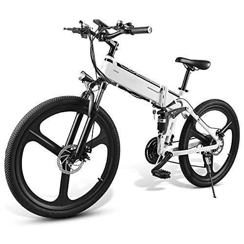 TGHY Bicicleta de Montaña Eléctrica Plegable de 26