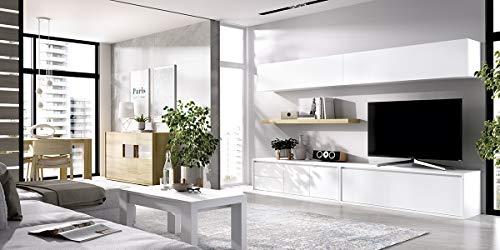 ambiato, Duo 6, lowboard met 2 laden, 2 x wandkast met lift-kip, benodigde ruimte: 270 x 45 cm