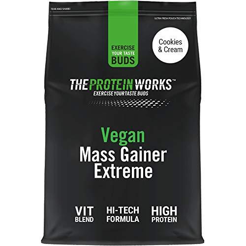 THE PROTEIN WORKS Vegan Mass Gainer Extreme | High Calorie Protein Powder | Weight Gainer | Vitamins & Minerals | Cookies 'n' Cream | 1 kg
