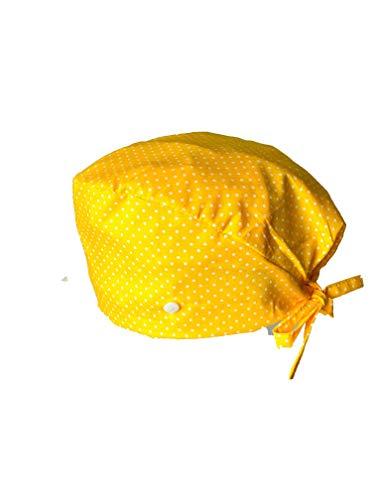 Medizinische Kappe, Knöpfe, gelbe Kappe, Baumwolle, verstellbar, Unisex, für Ärzte, Krankenschwestern, Kappe für Damen und Herren, gelbes Geschenk