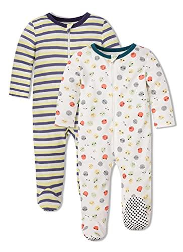 Froerley Pijama Bebe Algodon, Pijamas Bebe Niño, Pijama Bebe 0-3 meses Verano Nino, Pijama Familiar, Ropa Bebe Niño, Pack de 2