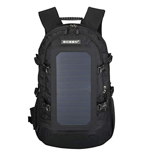 Solar Backpack Outdoor Sports Travelling Daypack With Usb Charger Port Hiking Bag Men And...