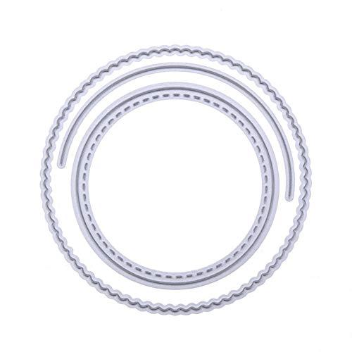 periwinkLuQ Niedliche Pop-Up-Kreis Karte DIY Prägung Schablone Handwerk Papier Kunst Stanzform – Silber