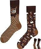 TODO Colours Lustige Socken mit Motiv - Mehrfarbige, Bunte, Verrückte für die Lebensfreude (Smart Owl, numeric_39)