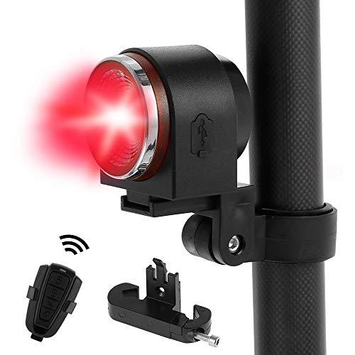 everso Fahrrad Rücklicht USB Wiederaufladbare Fahrrad Alarm Rücklicht Wasserdicht Wireless Alarm Diebstahlschutz Smart Bike Rücklicht mit Fernbedienung
