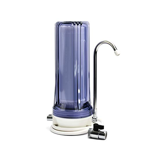 Propur Countertop Drinking Water Filtration System - Removes 200+ Contaminants Including Fluoride, Lead, Chlorine, Microplastics - Includes 1 ProMax Filter Element - Use in Your Home or Office.
