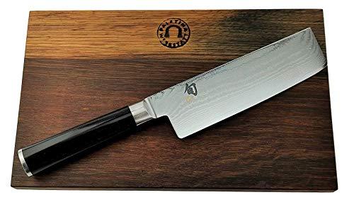 Kai Shun Classic Geschenkset | DM-0728 | ultrascharfes Nakiri Messer 16,5 cm | + Schneidebrett aus Fassholz (Eiche) 30x18 | VK: 245,- €
