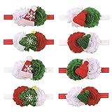 AAGOOD 5pcs Navidad del Bebé De Las Vendas del Tacto Suave De Hairband del Bowknot Floral Arcos del Pelo del Tocado Lindo para Un Infante Recién Nacido del Niño Suministro De Regalos