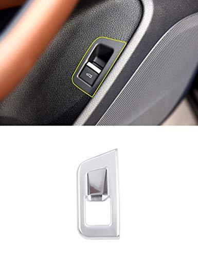 en Plastique ABS Chrome Intérieur Porte Interrupteur Bouton Couverture Couvercle Garniture Argent Mat Voiture Accessores pour Q7 2016