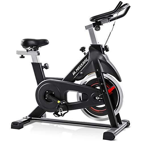 MaxKare Exercise Bike Stationary Indoor Cycling Bike with 35 LBS Flywheel Display Panel Belt Drive for Home Cardio Workout