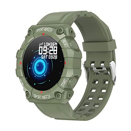 chebao, Reloj inteligente, rastreador de fitness con monitor de frecuencia cardíaca, FD68 reloj inteligente de 1.3 pulgadas, recordatorio de frecuencia cardíaca, rastreador de actividad física (verde)