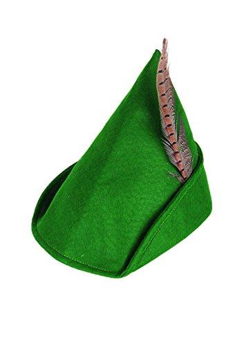 Islander Fashions Unisex: Green Robin Hood Hut mit Feder Erwachsene Abendkleid Buch Woche Zubeh�r Einheitsgr��e