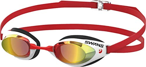 SWANS(スワンズ) 水泳 競泳用 スイミングゴーグル ミラーレーシングモデルFALCON Fina承認 スモーク×シャドーミラー SR-71MEVPAF