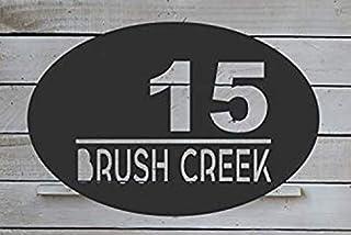 Metal Square Decoration Address Number Sign Door Number Vertical Decorative House Number Mailbox House Sign HN1083 Metal Number