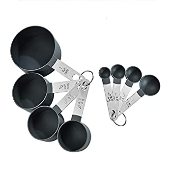 HUACHENG measuring cups and spoons set , kitchen aid Gadgets spatula , for Dry and Liquid Ingredient ,tackable Measuring Set for Cooking & Baking 8 pieces
