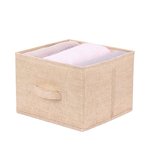 Organizer pieghevole da appendere, in cotone di lino, per armadio, cassetto, camera da letto, lavanderia, Close