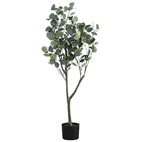 Viridii ユーカリ 金銭樹 人工観葉植物 フェイクグリーン 120cm 造花 造花グリーン インテリア飾り用 ギフト フェイク 人気 光触媒 大型 中型 記念樹