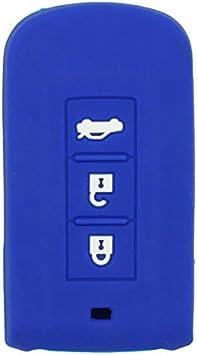 SEGADEN Silicone Cover Protector Case Holder Skin Jacket Compatible with MITSUBISHI Smart Remote Key Fob CV2520 Light Blue