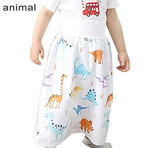 Godob Bequeme Babywindel, Rock, Shorts, Kinder, 2-in-1, wasserdicht und saugfähig, Windel-Shorts für Baby und Kleinkind